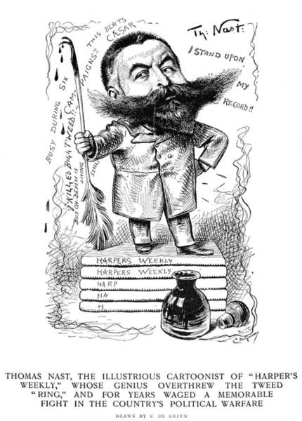 Inkwell Painting - Thomas Nast (1840-1902) by Granger