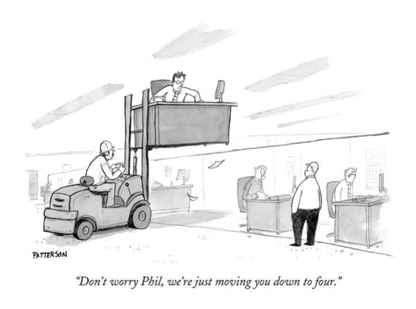 Fork Drawing - Don't Worry Phil by Jason Patterson