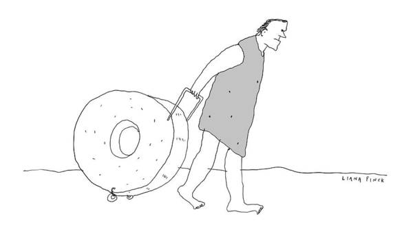Wheel Drawing - New Yorker December 19th, 2016 by Liana Finck