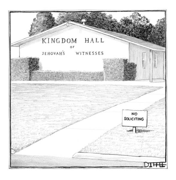 Hall Drawing - New Yorker October 8th, 2007 by Matthew Diffee