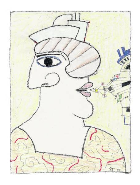 Profile Drawing - New Yorker October 31st, 2005 by Saul Steinberg