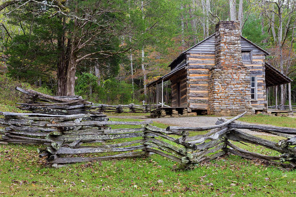 John Oliver Cabin Photograph - Usa, Tennessee, Great Smoky Mountains by Jaynes Gallery