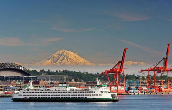 Washington Street Photograph - Usa, Washington, Seattle by Richard Duval