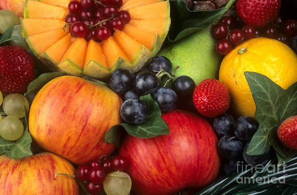 Currants Photograph - Variety Of Fruits. by Bernard Jaubert