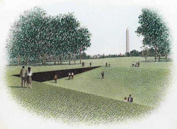 Vietnam Drawing - Vietnam Veterans Memorial by Granger