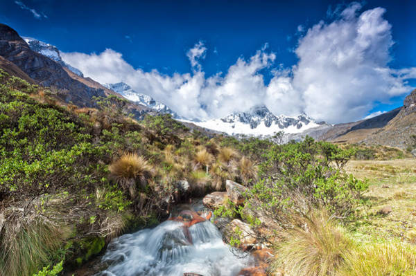Photograph - View Of Paso Punta Union On 4750m by U Schade