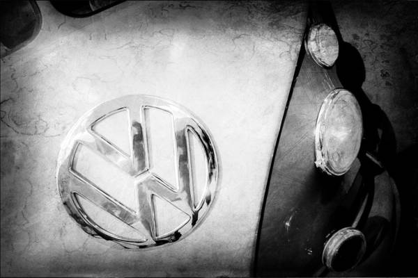 Photograph - Volkswagen Vw Bus Emblem by Jill Reger