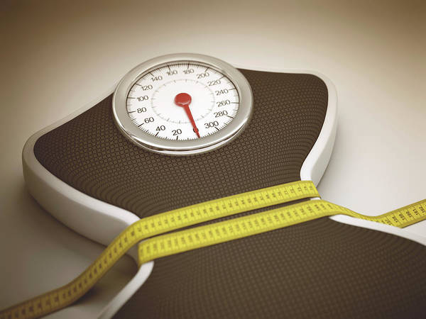 Concern Photograph - Weighing Scales by Ktsdesign/science Photo Library