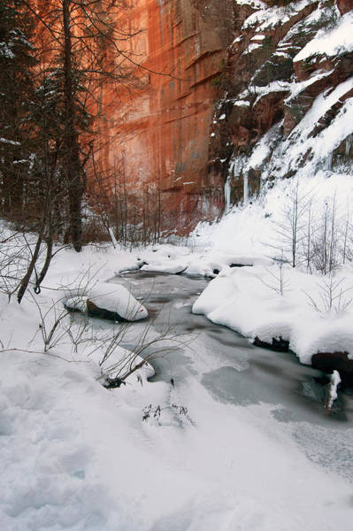 Photograph -  $250 - 16x20 Canvas - West Fork Snow 1703-010215-1 by Tam Ryan