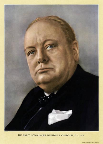 Wall Art - Photograph - Winston Churchill (1874-1965) by Granger