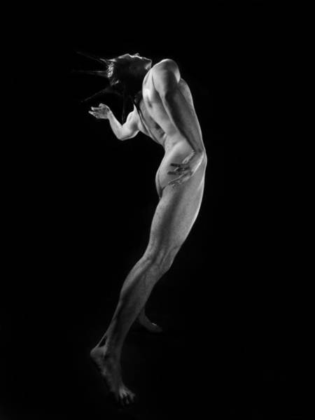 Photograph - 6094 Bw Male Nude In Motion by Chris Maher