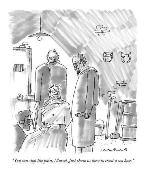 Chefs Drawing - You Can Stop The Pain by Michael Crawford