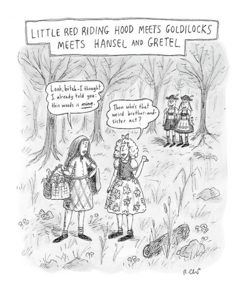 Folklore Drawing - New Yorker April 16th, 2007 by Roz Chast