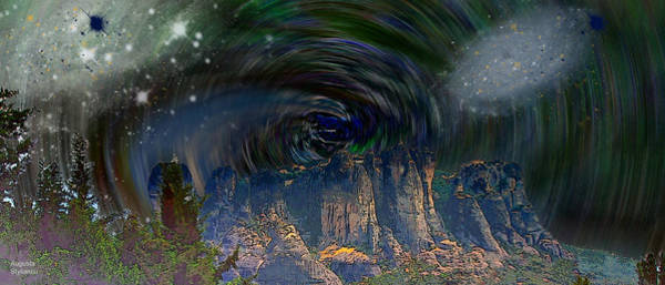 Planets And Moons Digital Art - Space Landscape by Augusta Stylianou