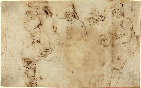 Wall Art - Drawing - Stefano Della Bella, Italian 1610-1664 by Litz Collection
