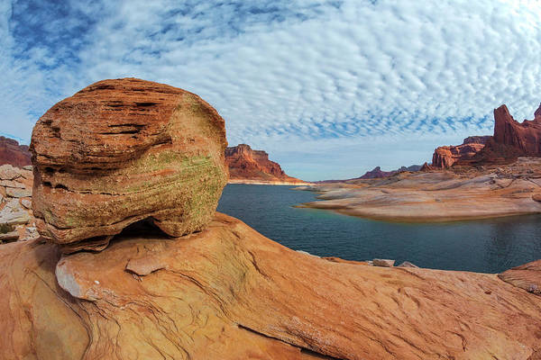 Water Erosion Photograph - Usa, Utah, Glen Canyon National by Jaynes Gallery