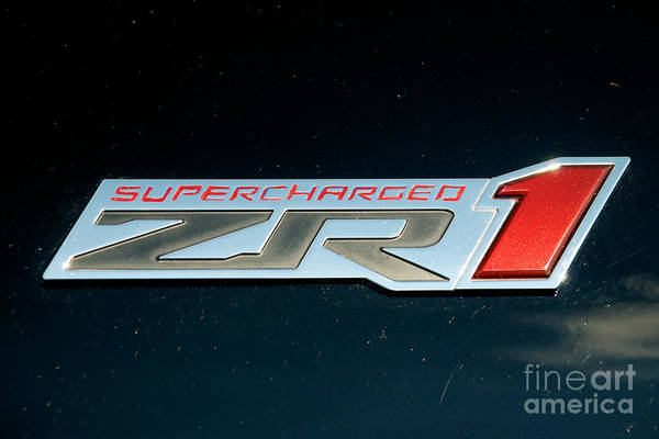 Photograph - 63 Corvette Supercharded Logo by Mark Dodd