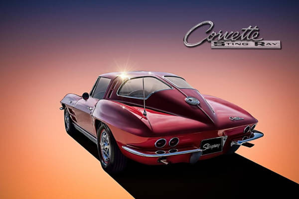 Corvette Wall Art - Digital Art - '63 Stinger by Douglas Pittman