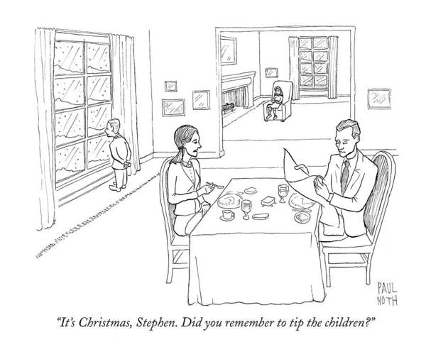 Wealthy Drawing - It's Christmas by Paul Noth