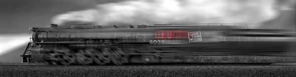 Steam Engine Photograph - 6339 On The Move Panoramic by Mike McGlothlen