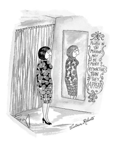 Attractive Drawing - New Yorker February 21st, 2000 by Victoria Roberts