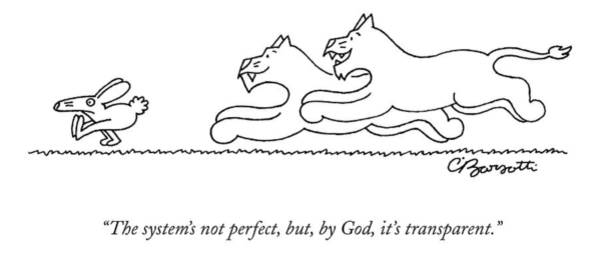 Frightening Drawing - The System's Not Perfect by Charles Barsotti