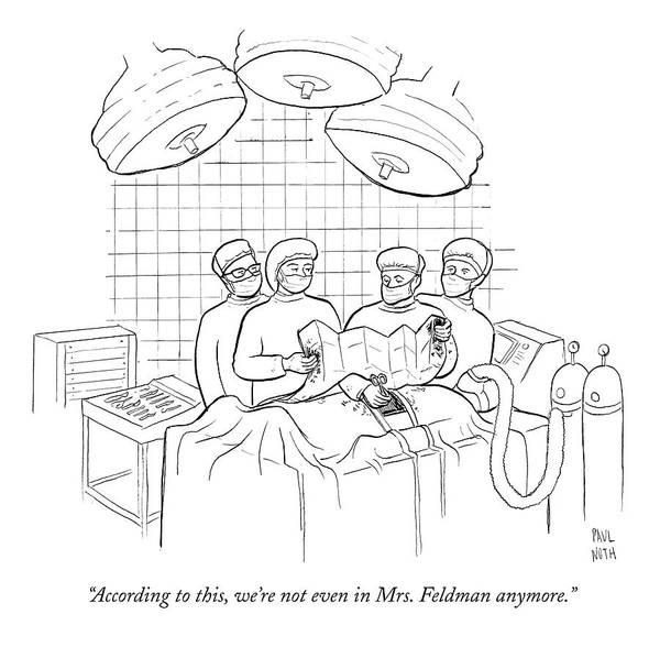 April 6th Drawing - According To This by Paul Noth