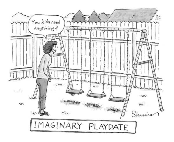 Imagination Drawing - New Yorker August 13th, 2007 by Danny Shanahan