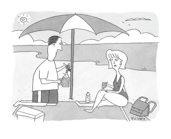 Shaded Drawing - New Yorker July 28th, 2008 by Peter C. Vey