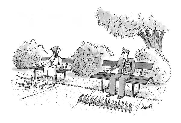 Line Up Drawing - New Yorker April 11th, 2005 by Tom Cheney