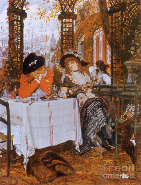 Flirtatious Painting - Victorian Art Piece by Indian Summer