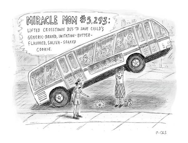 5 Drawing - New Yorker October 8th, 2007 by Roz Chast