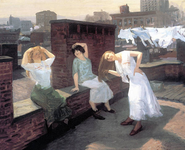 Photograph - Sunday Women Drying Their Hair by John Sloan