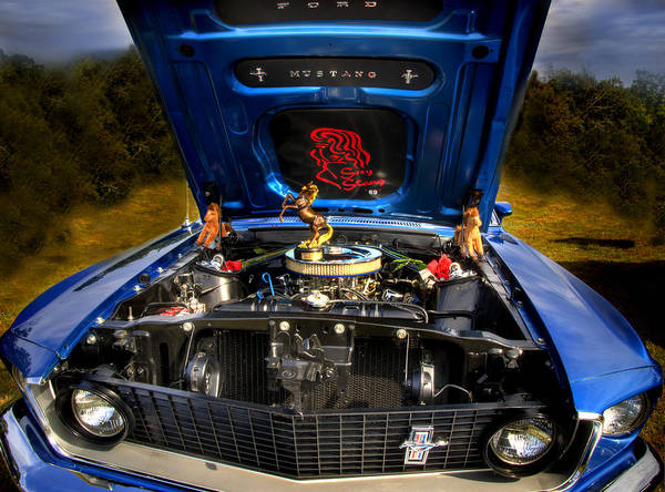 Photograph - 69 Mustang by Thomas Young