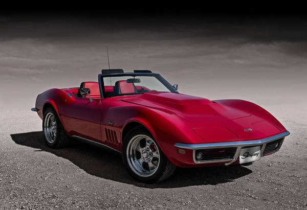 Chevy Corvette Wall Art - Digital Art - 69 Red Stingray by Douglas Pittman