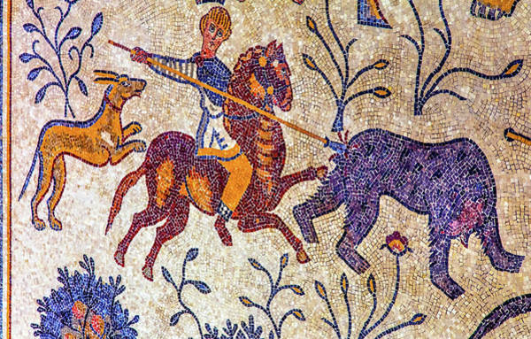 Wall Art - Photograph - 6th Century Mosaic, Memorial Church by William Perry