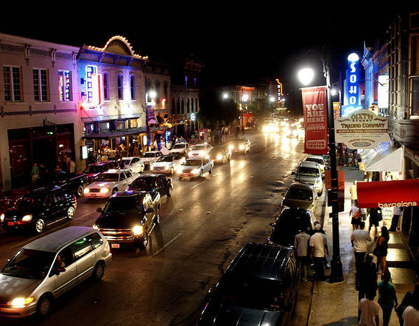 Photograph - 6th Street Austin Texas by James Granberry