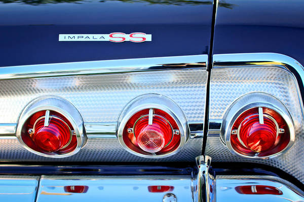 Photograph - 1962 Chevrolet Impala Ss Taillight Emblem by Jill Reger