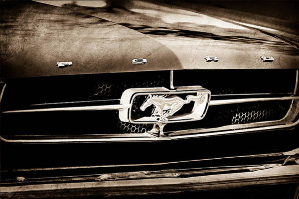 Prototype Photograph - 1965 Shelby Prototype Ford Mustang Grille Emblem by Jill Reger