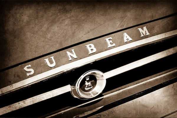 1965 Photograph - 1965 Sunbeam Tiger Grille Emblem by Jill Reger