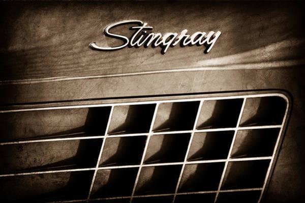 1972 Photograph - 1972 Chevrolet Corvette Stingray Emblem by Jill Reger