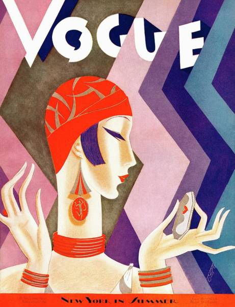 Make Up Photograph - A Vintage Vogue Magazine Cover Of A Woman by Eduardo Garcia Benito