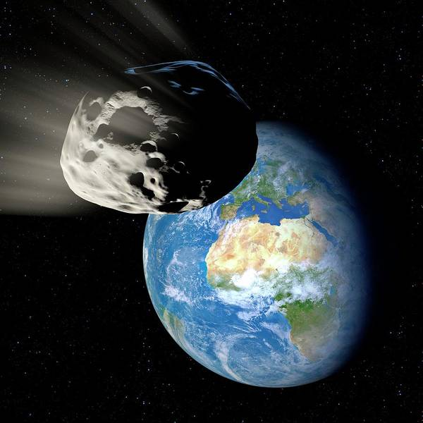 Near Earth Object Photograph - Asteroid Approaching Earth by Detlev Van Ravenswaay