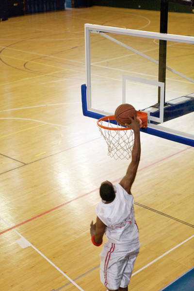 Wall Art - Photograph - Basketball Player Scoring by Gustoimages/science Photo Library