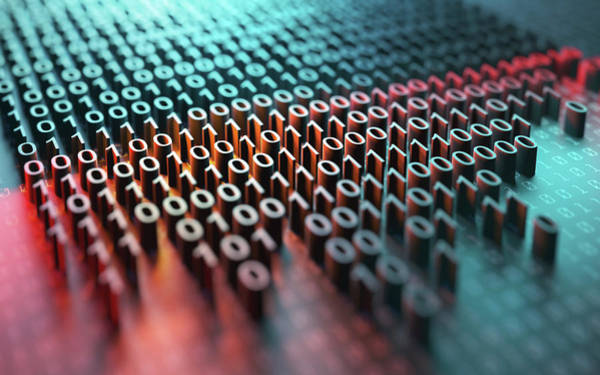 Photograph - Binary Code by Ktsdesign/science Photo Library