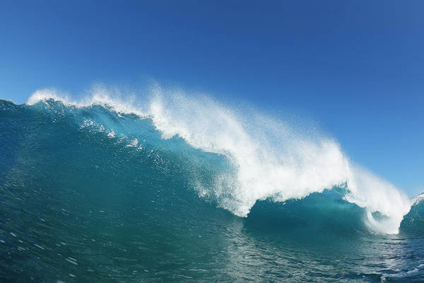 Wall Art - Photograph - Blue Ocean Wave, View From In The Water by Design Pics Vibe