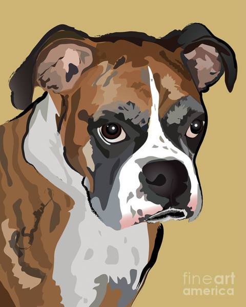 Boxer Dog Portrait Art Print