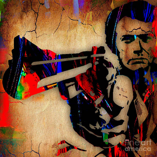 Wall Art - Mixed Media - Clint Eastwood Collection by Marvin Blaine