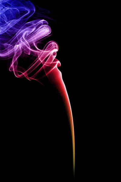 Colours Photograph - Colourful Smoke by Samuel Whitton