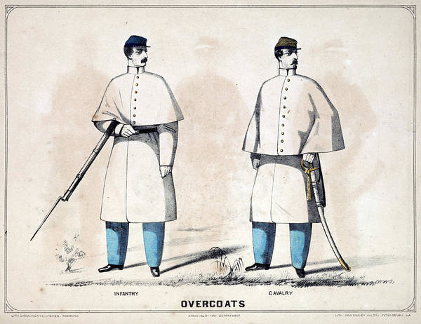 Confederate Soldier Drawing - Confederate Uniforms, 1861 by Granger